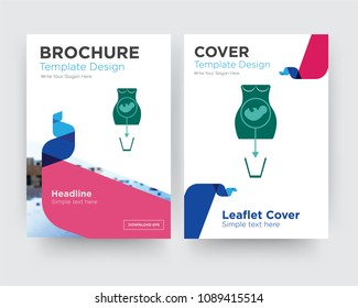 abortion brochure flyer design template with abstract photo background, minimalist trend business corporate roll up or annual report