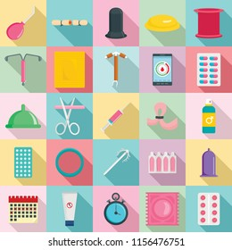 Abortion icons set. Flat illustration of 25 abortion vector icons for web