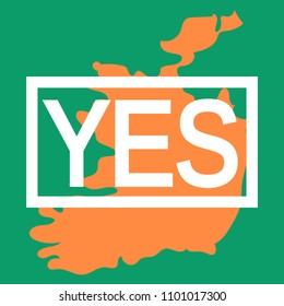 Abortion rights in the Republic of Ireland. May 25, 2018. Repeal of the 8th amendment. Colors of Irish national flag