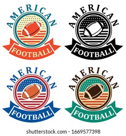 about the american football logo with the colors of the america flag.