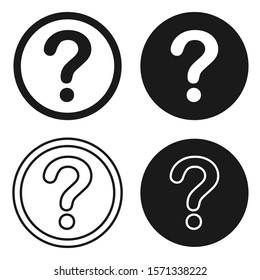 About, help, info, information, properties, support, question icon sign. More info logo symbol button set. Vector illustration image. Isolated on white background.