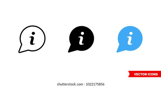 About us icon of 3 types: color, black and white, outline. Isolated vector sign symbol.