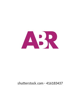 ABR Logo. Vector Graphic Branding Letter Element. White Background
