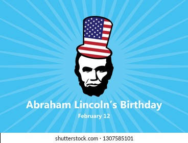 Abraham Lincoln's Birthday vector. February 12, the birthday of President Abraham Lincoln. Abraham Lincoln vector icon. Important day