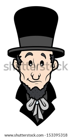 Abraham Lincoln Cartoon Vector Character Stock Vector Royalty Free