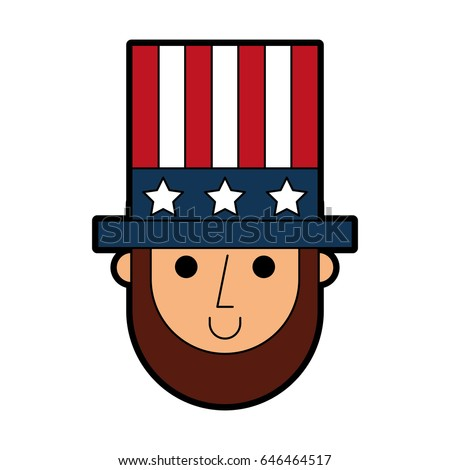 Abraham Lincoln Hat Comic Character Stock Vector Royalty Free