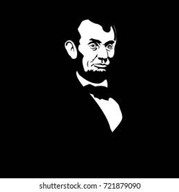 Profiles Of Pesident Lincoln And Washington Stock Illustrations