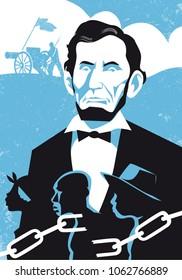 Abraham Lincoln vector illustration