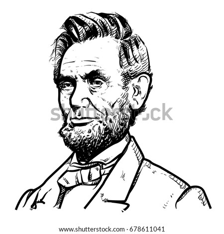 Abraham Lincoln Vector Illustration Abraham Lincoln Stock Vector