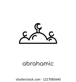 Abrahamic icon. Trendy modern flat linear vector Abrahamic icon on white background from thin line Religion collection, editable outline stroke vector illustration