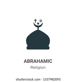 Abrahamic vector icon on white background. Flat vector abrahamic icon symbol sign from modern religion collection for mobile concept and web apps design.