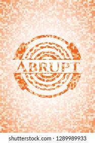 Abrupt abstract orange mosaic emblem
