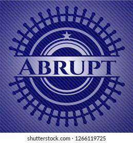 Abrupt badge with jean texture