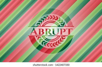 Abrupt christmas emblem. Vector Illustration. Detailed.