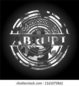 Abrupt grey camouflaged emblem