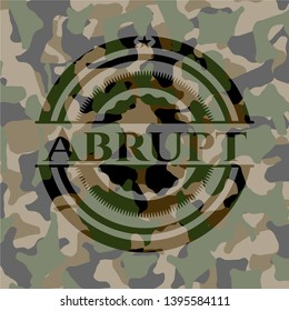 Abrupt on camouflaged pattern. Vector Illustration. Detailed.