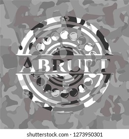 Abrupt on grey camouflage texture