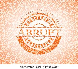 Abrupt orange mosaic emblem