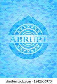 Abrupt realistic sky blue emblem. Mosaic background