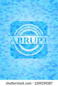 Abrupt sky blue emblem. Mosaic background