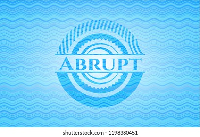 Abrupt sky blue water badge.