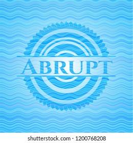 Abrupt sky blue water emblem.