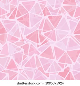 The abruption. Pattern. Seamless texture. Pentagons with transparent elements. For backgrounds, textiles, walls, design. Fashionable, stylish, original.
