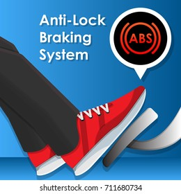 ABS Anti-Lock Braking System Safety Technology Emergency Braking