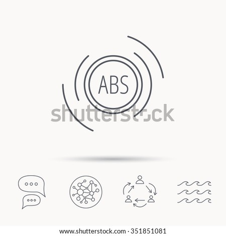 ABS Icon Brakes Antilock System Sign Stock Vector (Royalty