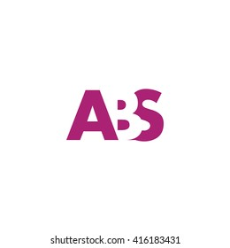 ABS Logo. Vector Graphic Branding Letter Element. White Background