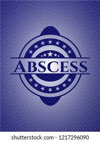 Abscess emblem with jean texture
