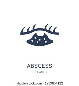 Abscess icon. Abscess filled symbol design from Diseases collection. Simple element vector illustration on white background
