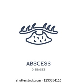 Abscess icon. Abscess linear symbol design from Diseases collection. Simple outline element vector illustration on white background