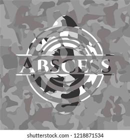 Abscess on grey camo pattern