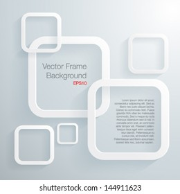 Abscract 3D geometrical frame-Vector illustration