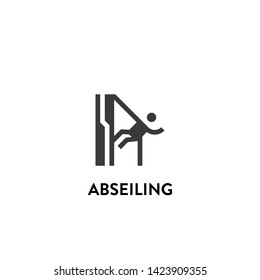 abseiling icon vector. abseiling vector graphic illustration