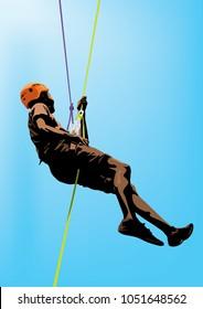 Abseiling Rock Climbing adventures sport