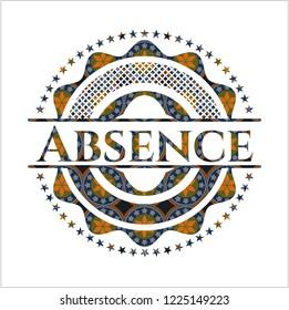 Absence arabesque badge. arabic decoration.