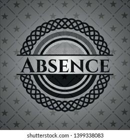 Absence black badge. Vector Illustration. Detailed.