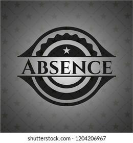 Absence black emblem. Vintage.