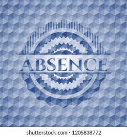 Absence blue polygonal emblem.