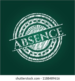 Absence with chalkboard texture