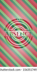 Absence christmas emblem background. Vector Illustration. Detailed.