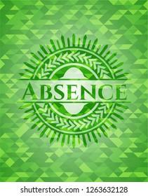 Absence realistic green mosaic emblem
