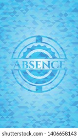 Absence realistic light blue mosaic emblem
