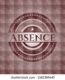 Absence red seamless geometric badge.