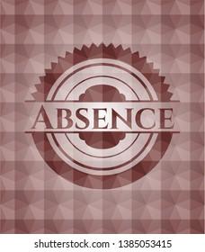 Absence red seamless geometric pattern emblem. Seamless.