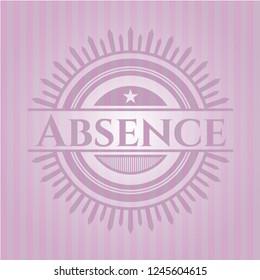 Absence retro style pink emblem