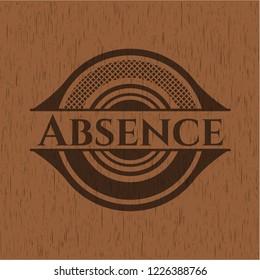 Absence vintage wood emblem