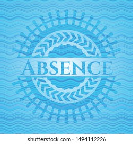 Absence water wave emblem. Vector Illustration. Detailed.